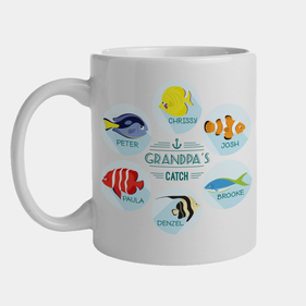 Personalized Grandpa's Catch Mug