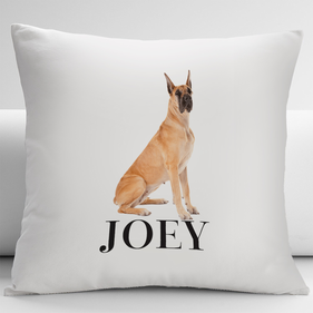 Personalized Great Dane Dog Decorative Cushion Cover