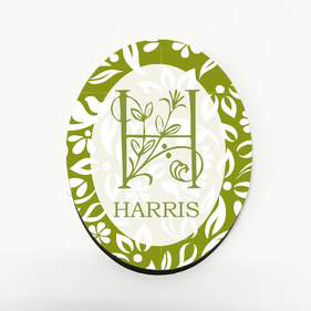 Personalized Green Leaf Refrigerator Magnet
