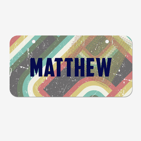Personalized Grunge Stripes License Plates