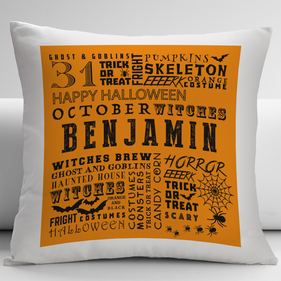 Personalized Halloween Decorative Pillow Cover