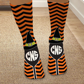 Personalized Halloween Witch Hat Tube Socks