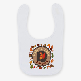 Personalized Happy Autumn Baby Bib