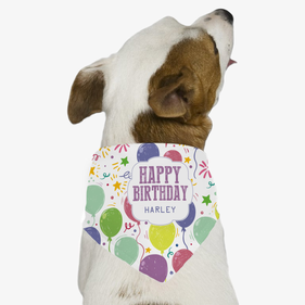 Personalized Happy Birthday Harley Dog Bandana