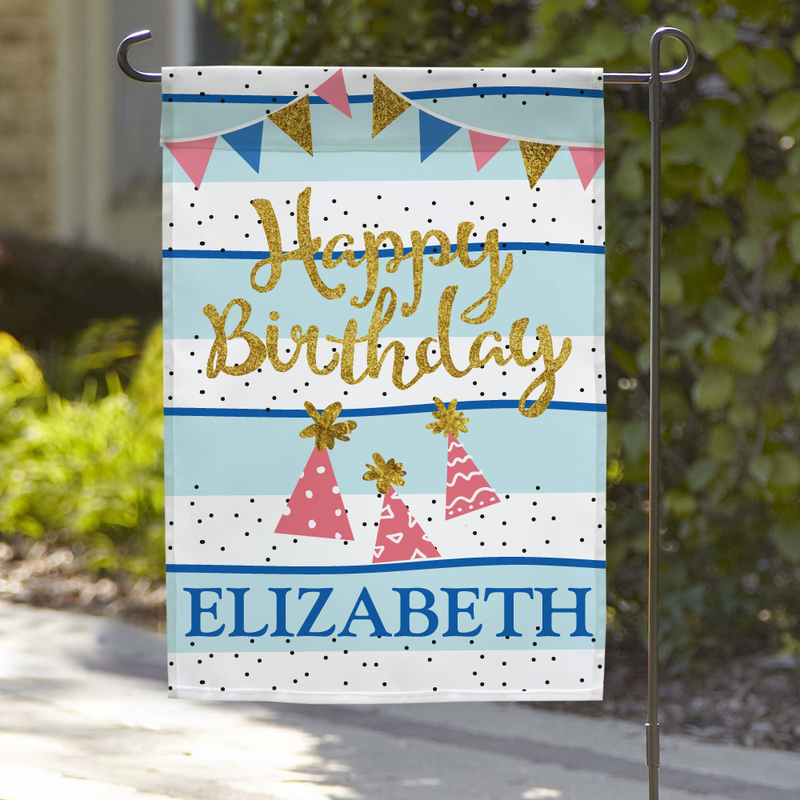 Personalized Gifts Happy Birthday Name Garden Flag Buy It
