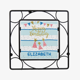Personalized Happy Birthday Trivet