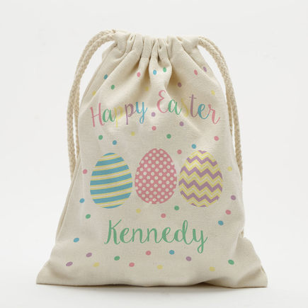 Personalized Happy Easter Drawstring Sack