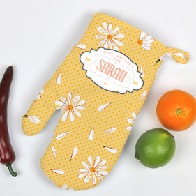 Personalized Happy Mother's Day Floral Oven Mitt