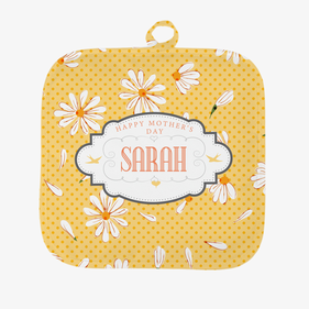 Personalized Happy Mother's Day Floral Pot Holder