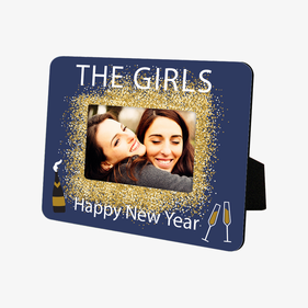 Personalized Happy New Year Hardboard Picture Frame