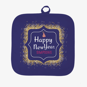 Personalized Happy New Year Pot Holder