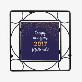 Personalized Happy New Year Trivet