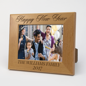 Exclusive Sale - Personalized Happy New Year Wood Picture Frame