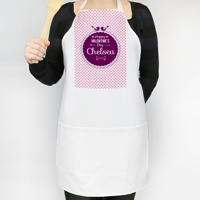 Personalized Happy Valentine's Day Adult Apron