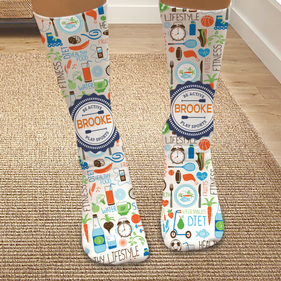 Personalized Healthy Lifestyles Tube Socks