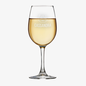 Personalized His or Hers White Wine Glass