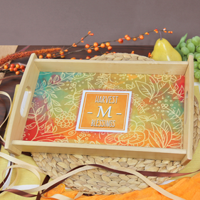 Personalized Holiday Wood Tray