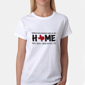 Exclusive Sale - Personalized Home State Ladies' T-Shirt