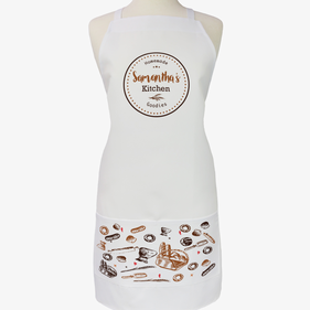 Personalized Homemade Goodies Name Adult Apron