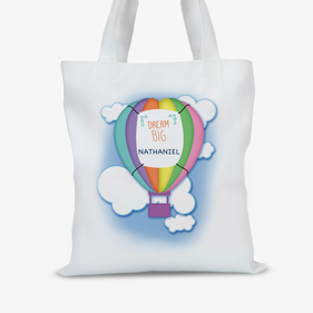 Personalized Hot Air Balloon Tote Bag