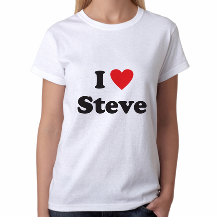 Personalized I Love You T-Shirt for Her