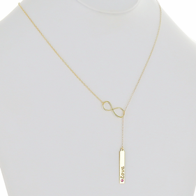 Personalized Infinity Lariat Necklace