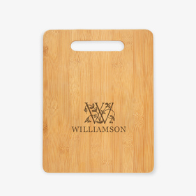 Personalized Initial and Vine Cutting Board