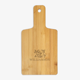 Personalized Initial and Vine Wooden Serving Board
