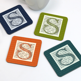 Personalized Initial Coaster Set of Four