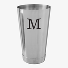 Personalized Initial Cocktail Shaker Tin
