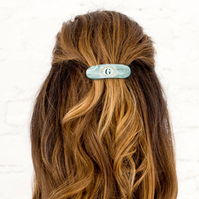 Personalized Initial Hair Barrette