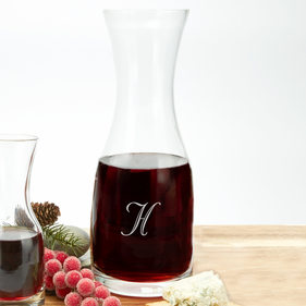 Exclusive Sale - Personalized Initial Large Wine Carafe