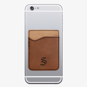 Personalized Initial Leatherette Caddy Phone Wallet