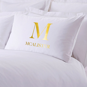 Personalized Initial Sleeping Pillowcase