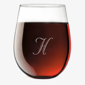 Exclusive Sale - Personalized Initial Stemless Wine Glass