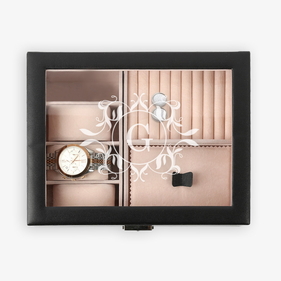 Personalized Initial Watch & Jewelry Accessories Box