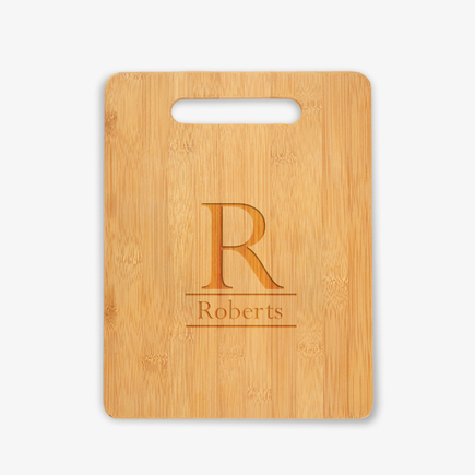 Personalized Initial Wooden Cutting Board