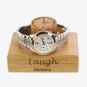 Personalized Inspiration Wood Bracelet Watch Holder