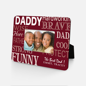 Personalized Inspirational Hero Dad Picture Frame