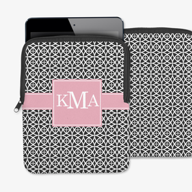 Geo Trellis Design Personalized iPad/Tablet/Laptop Sleeve