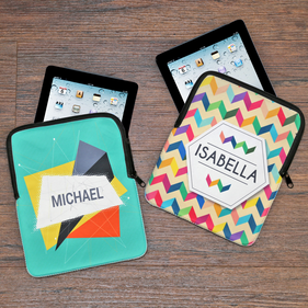 Personalized iPad/Tablet Sleeve with Zipper