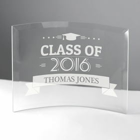 Personalized Jade Beveled Glass Crescent