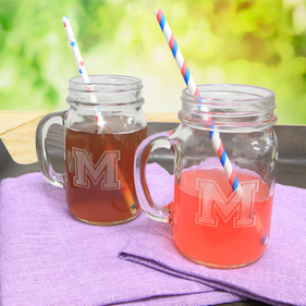 Personalized Mason Jar Glasses Set of Two