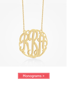 Monogram Jewelry - up to 60% Off Sale