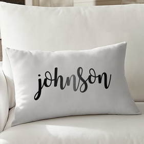 Personalized Johnson Lumbar Pillowcase