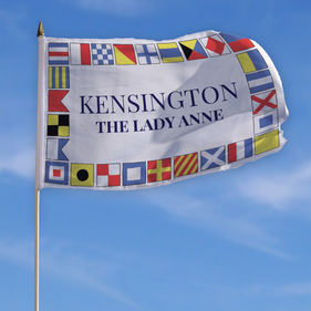 Personalized Kensington Patriotic Flag w/ Stick