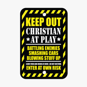 Personalized Kid At Play Room Sign