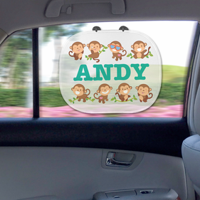 Personalized Kid's Sunshade Guard with 2 Suction Cups