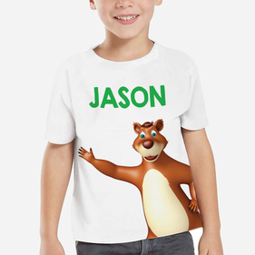 Exclusive Sale - Personalized Kids Bear T-Shirt