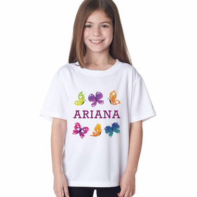 Personalized Butterfly T-Shirt for Girl